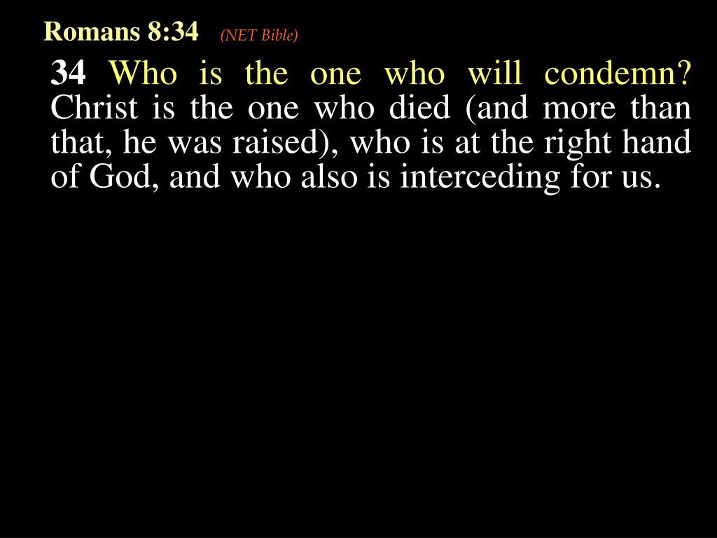 Romans 8:34