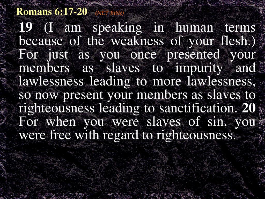 Romans 6:17-20
