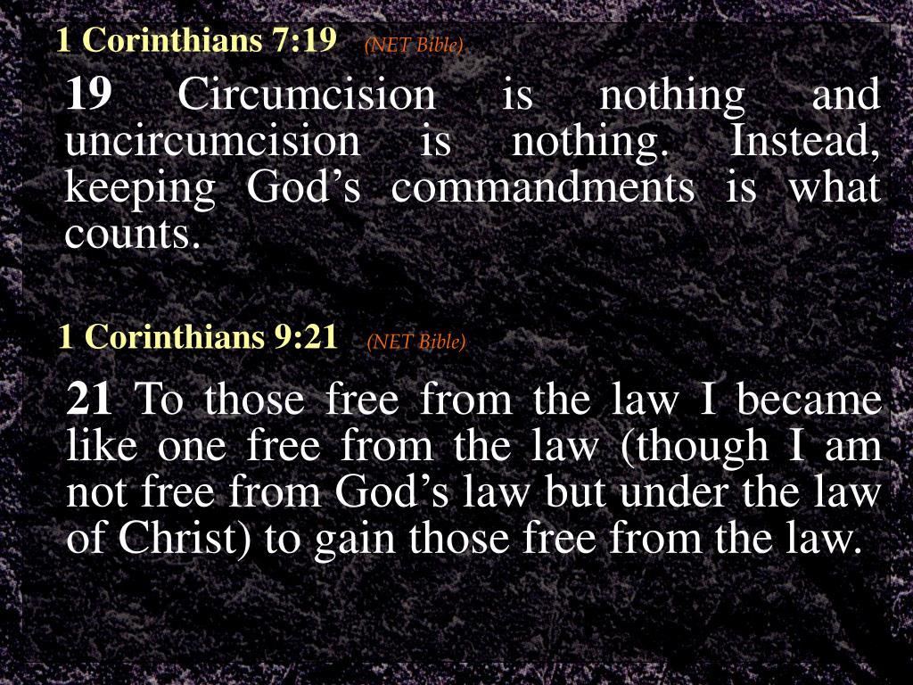 1 Corinthians 7:19