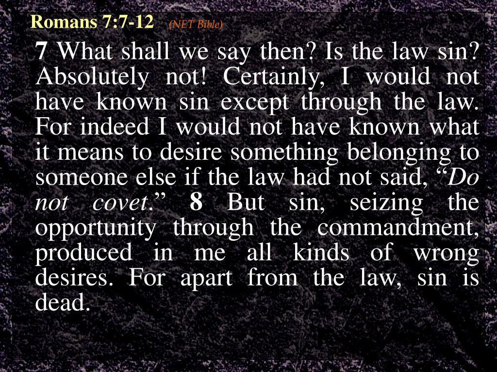 Romans 7:7-12