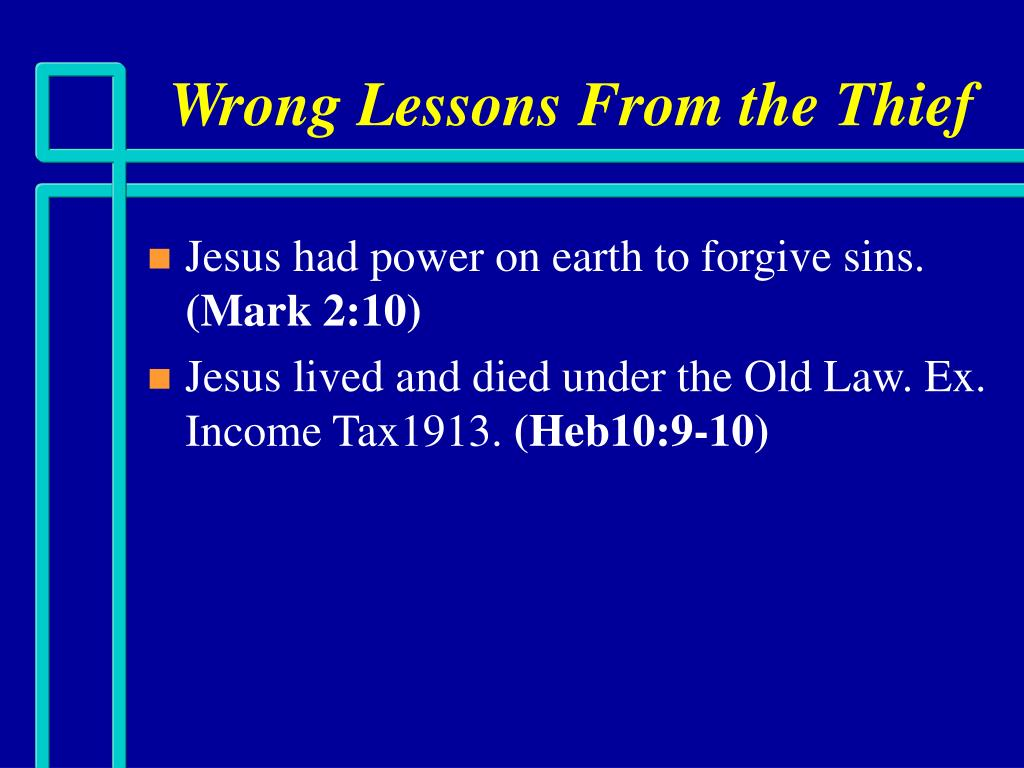 Wrong Lessons From the Thief
