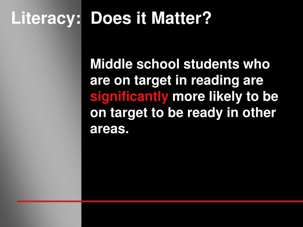 Literacy:  Does it Matter?