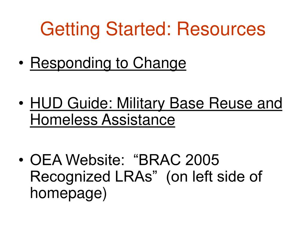 Getting Started: Resources