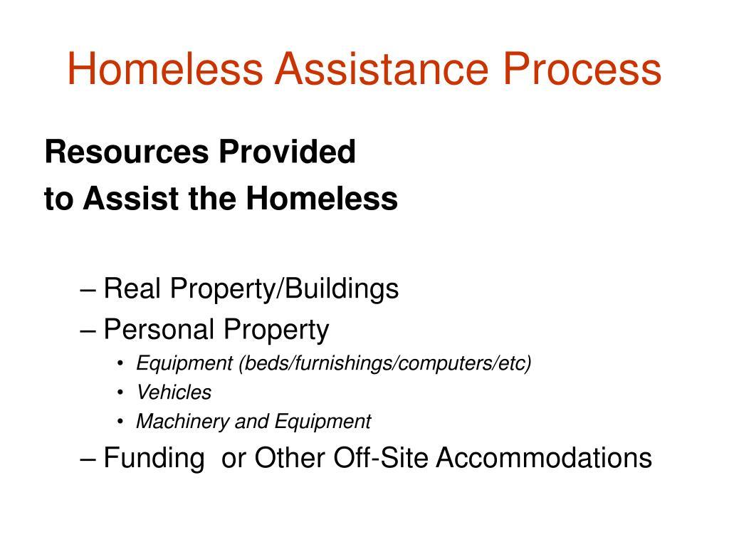 Homeless Assistance Process