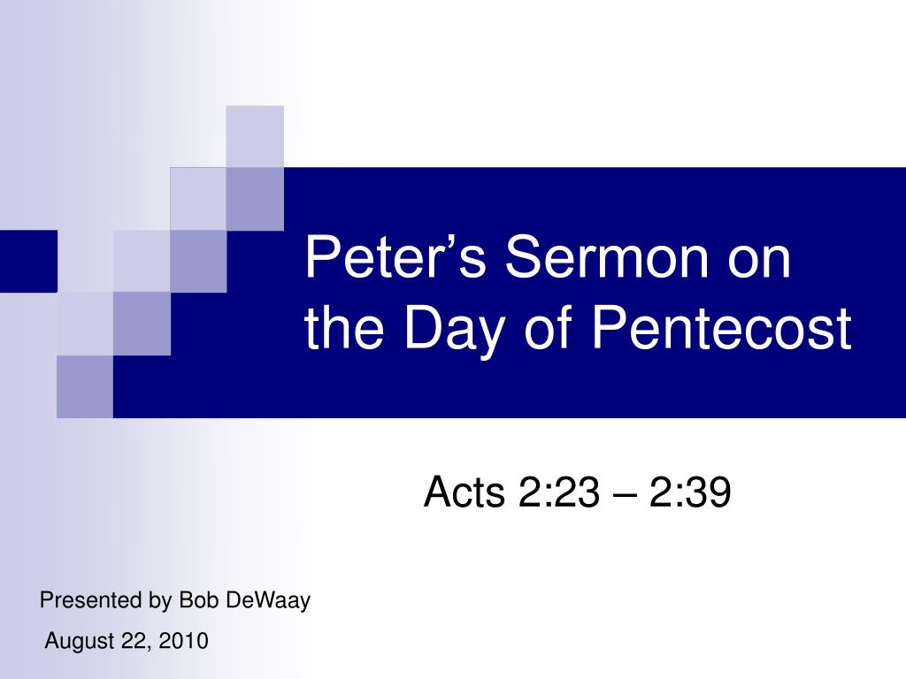 Peter's Sermon on the Day of Pentecost