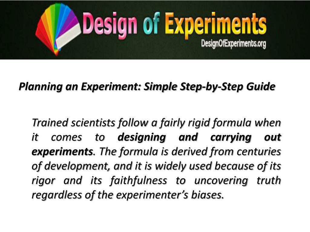 Planning an Experiment: Simple Step-by-Step Guide