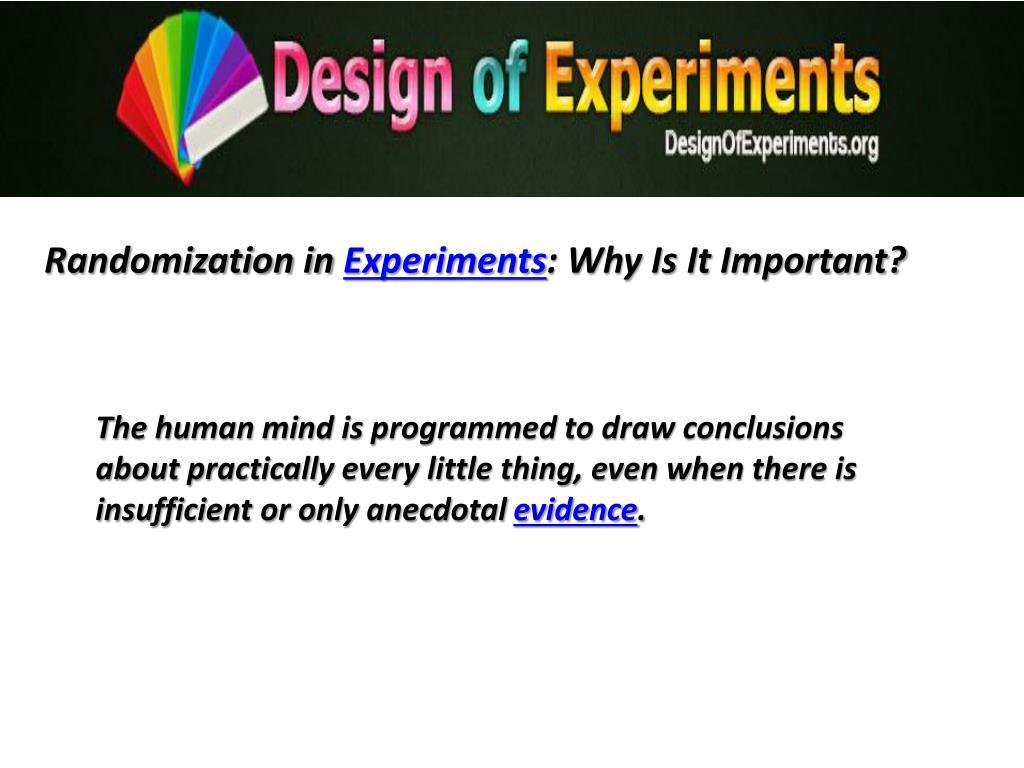 Randomization in