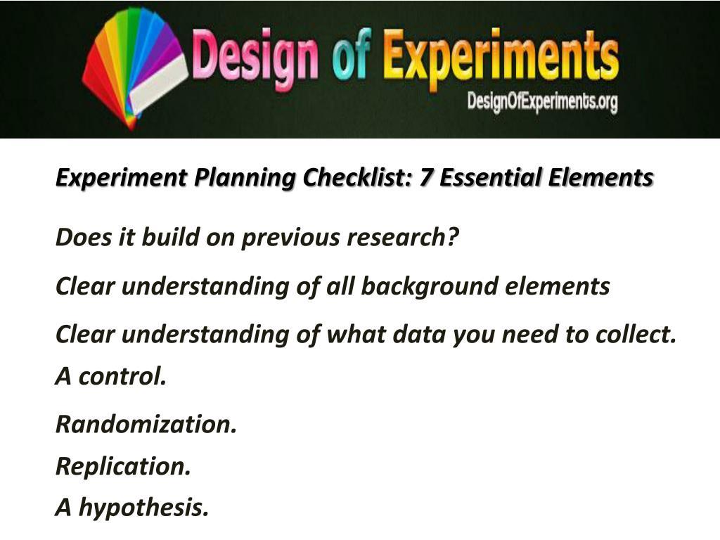 Experiment Planning Checklist: 7 Essential Elements