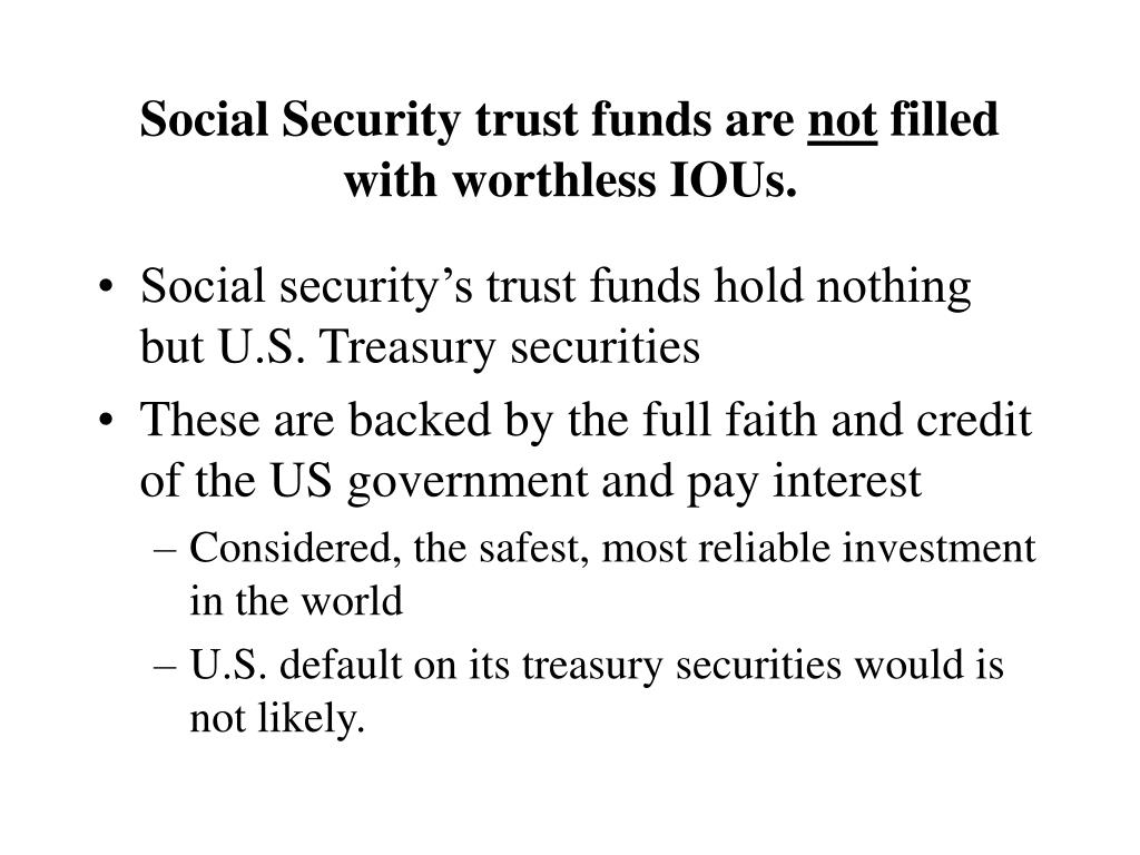 Social Security trust funds are