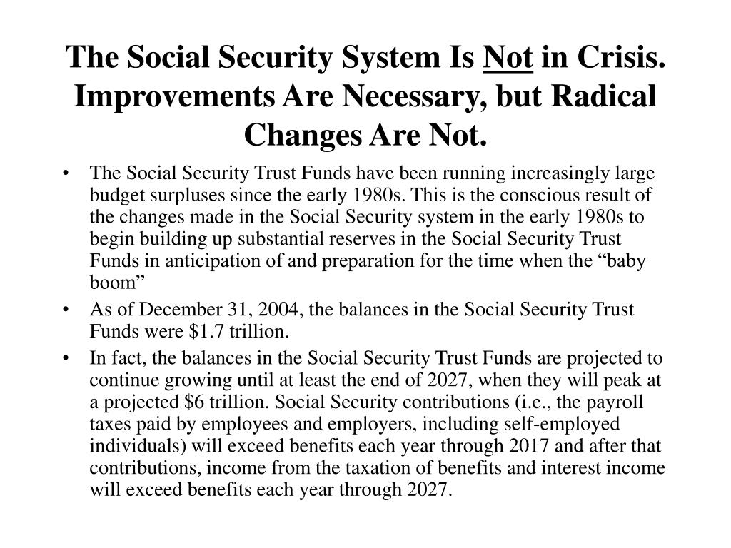The Social Security System Is
