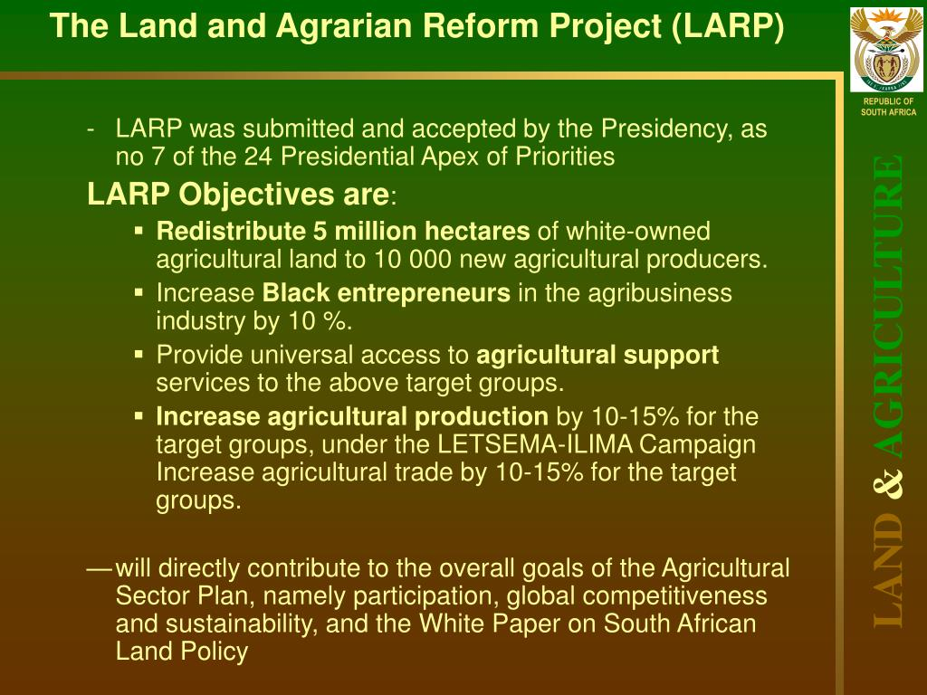 the comprehensive agrarian reform programme carp