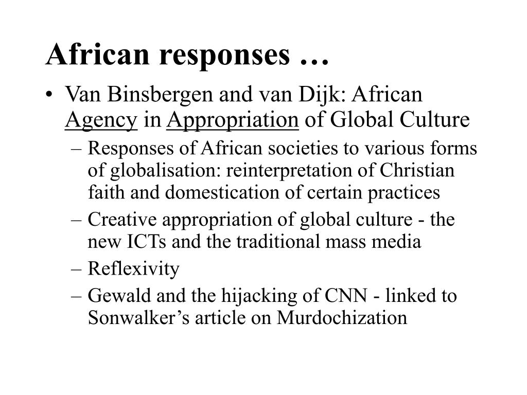African responses …