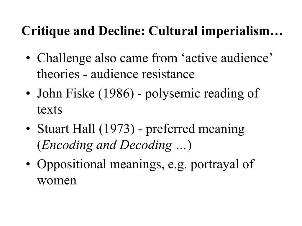 Critique and Decline: Cultural imperialism…