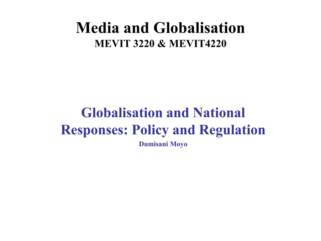 Media and Globalisation
