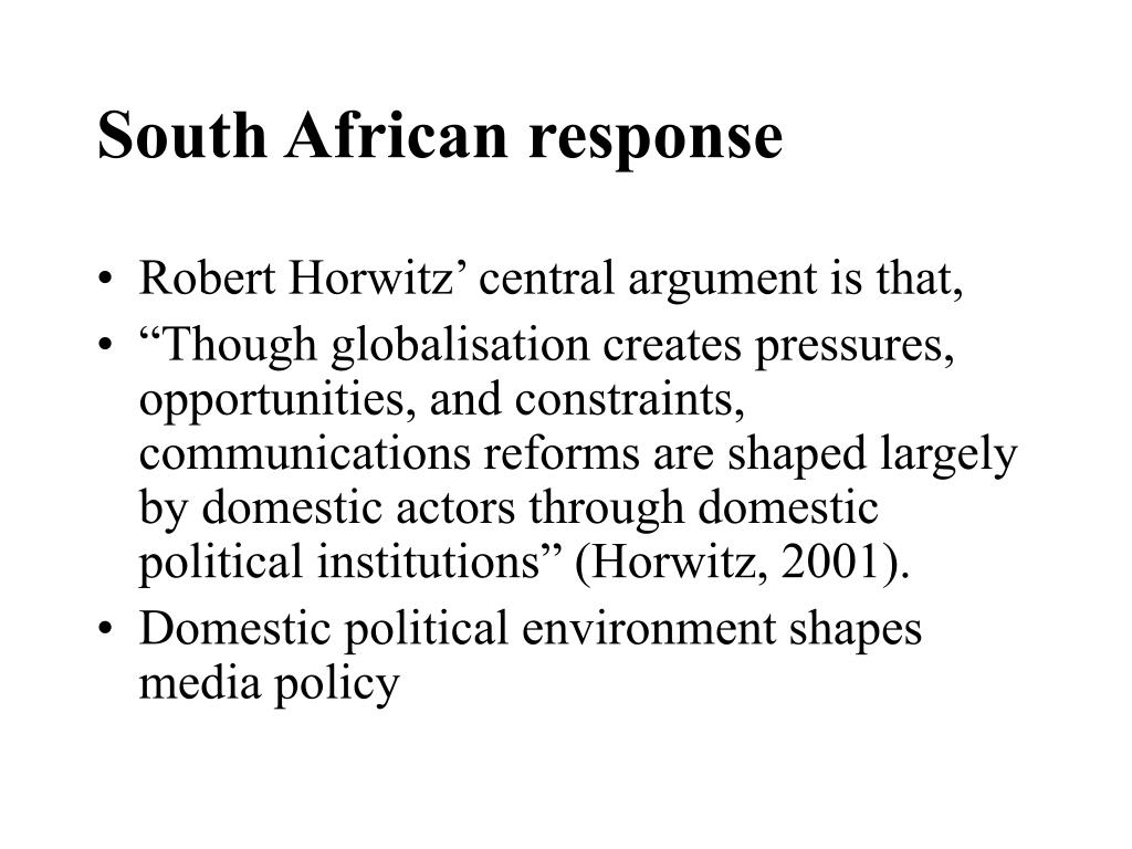 South African response