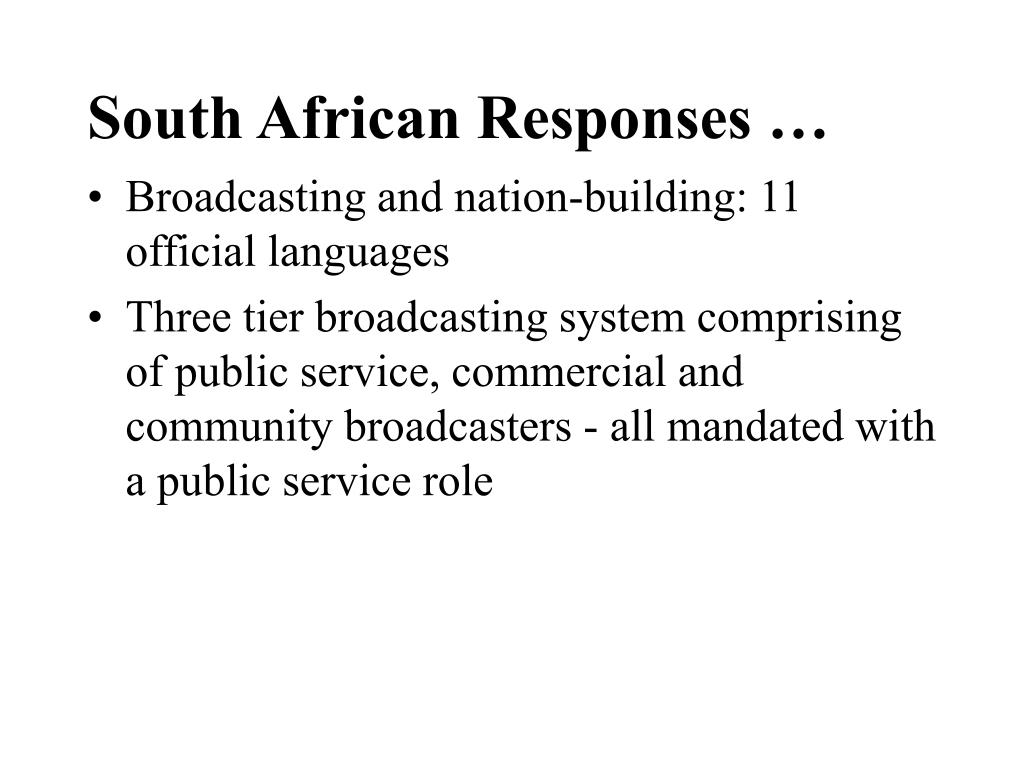 South African Responses …