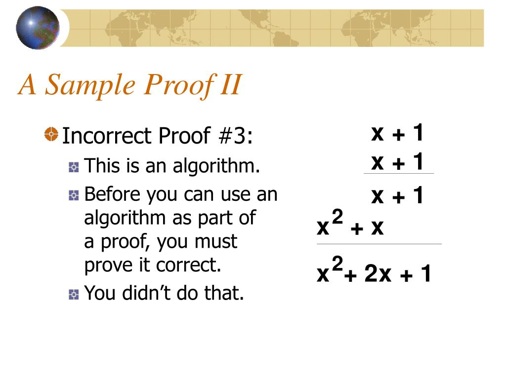 A Sample Proof II