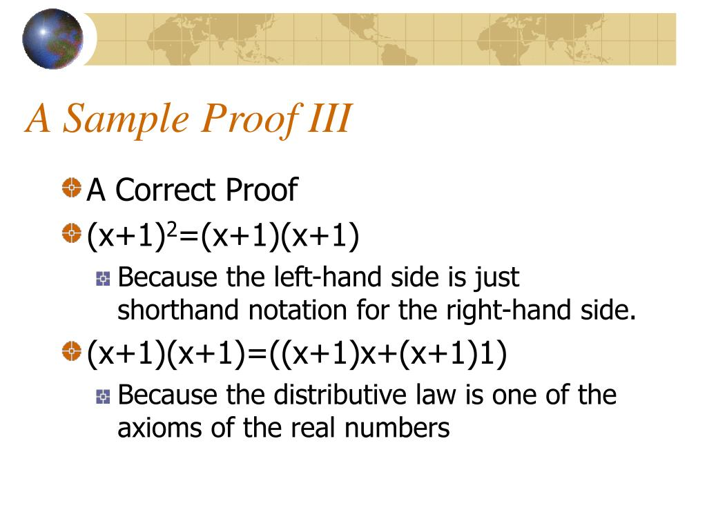 A Sample Proof III