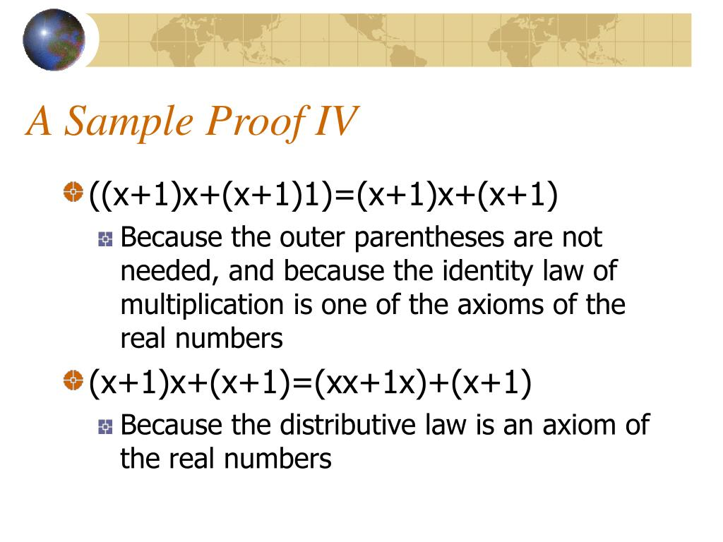 A Sample Proof IV