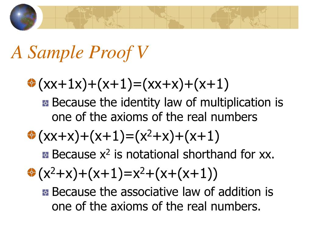 A Sample Proof V