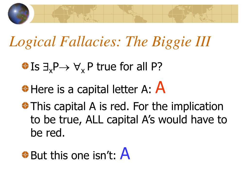 Logical Fallacies: The Biggie III