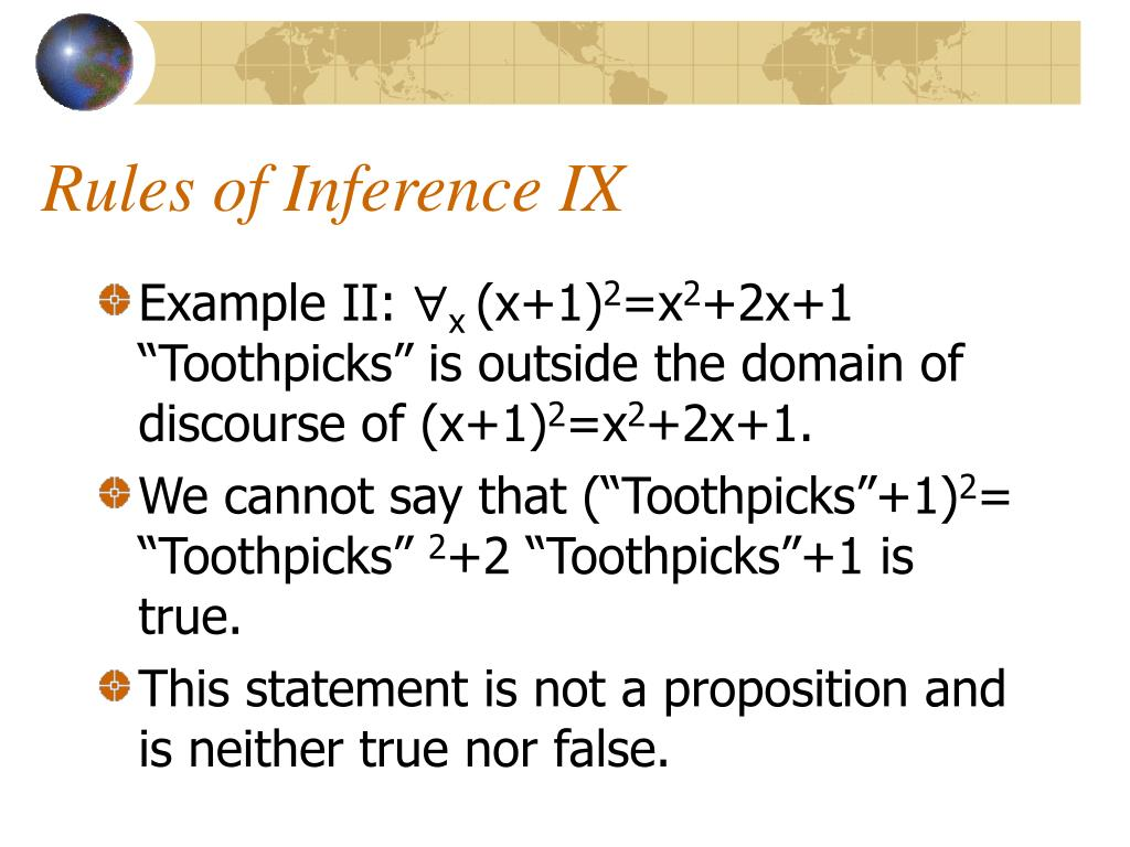 Rules of Inference IX