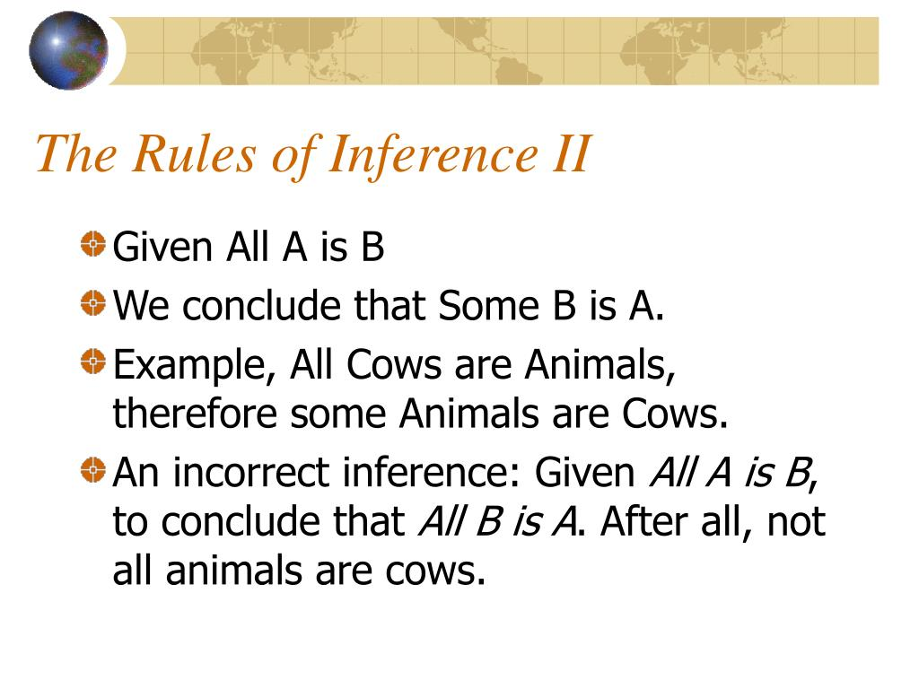 The Rules of Inference II