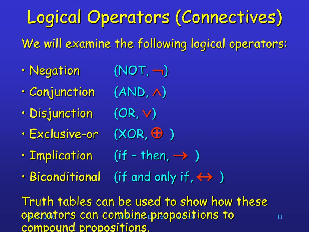Logical Operators (Connectives)