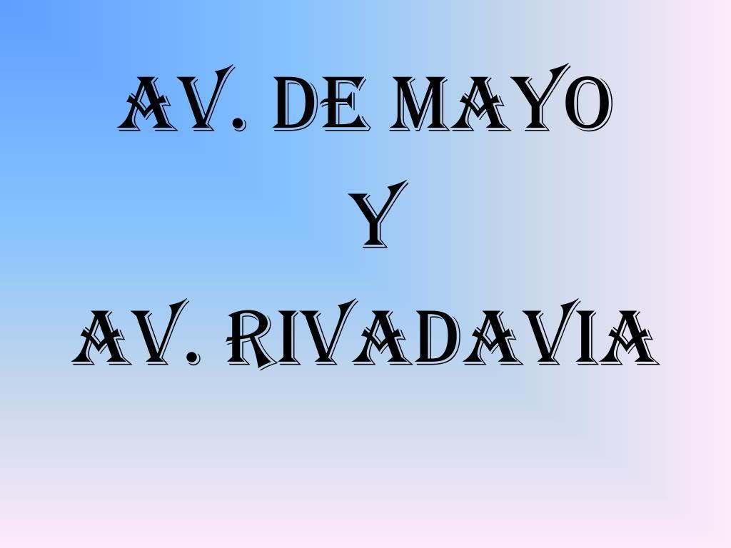 Av. de Mayo