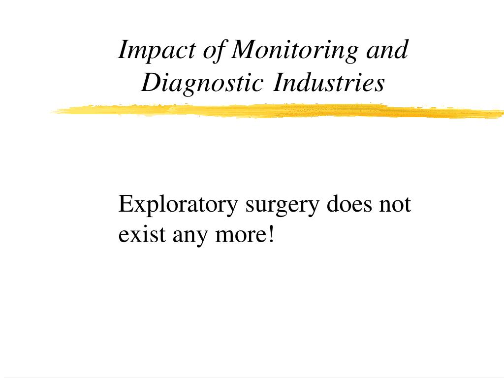 Impact of Monitoring and Diagnostic