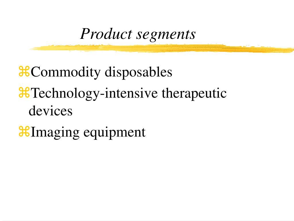 Product segments
