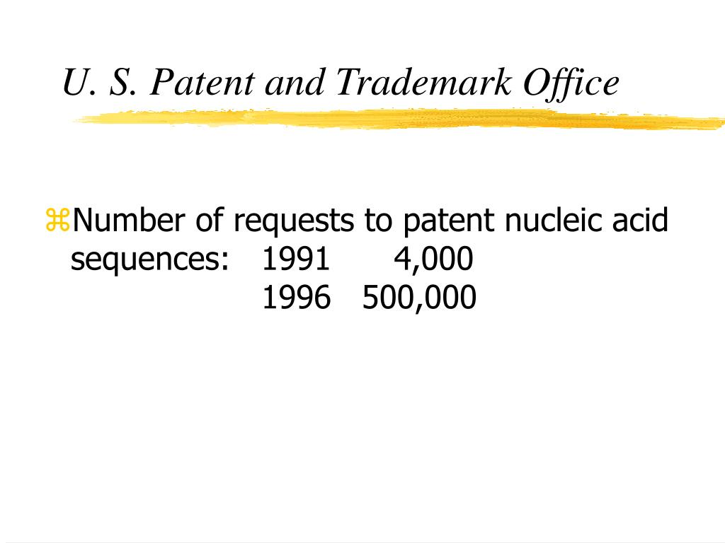 U. S. Patent and Trademark Office