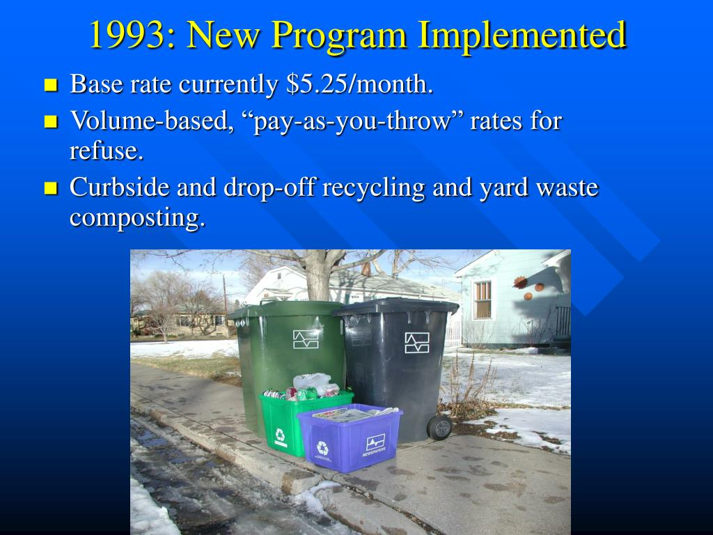 1993: New Program Implemented