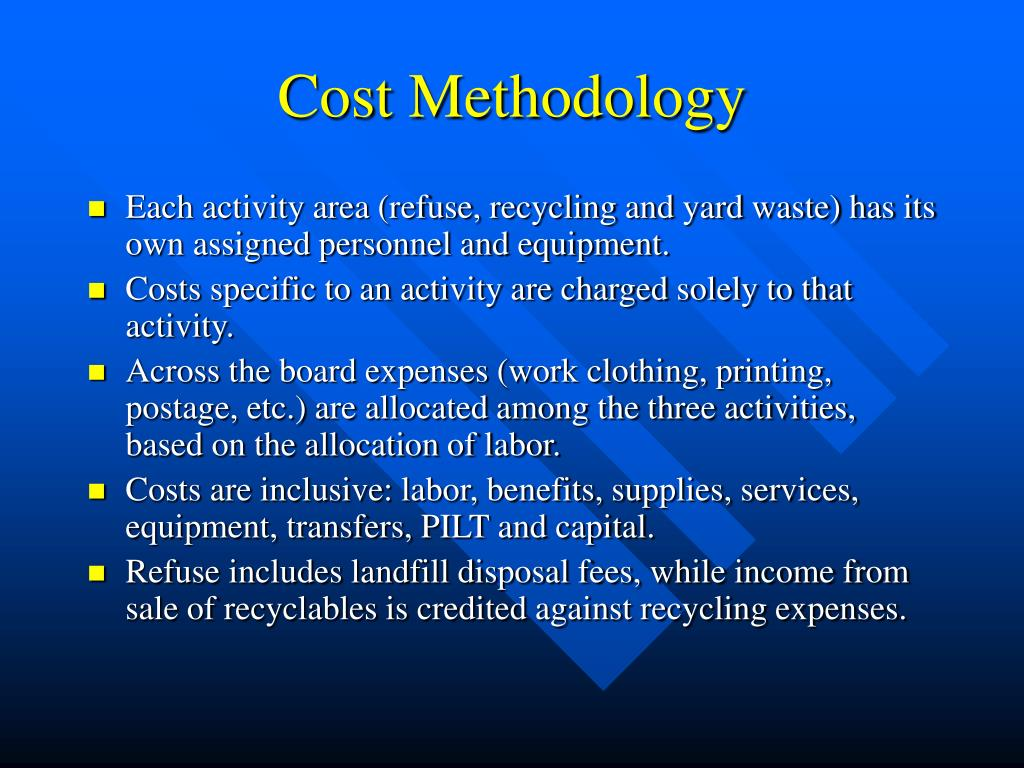 Cost Methodology