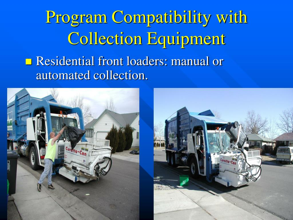 Program Compatibility with Collection Equipment