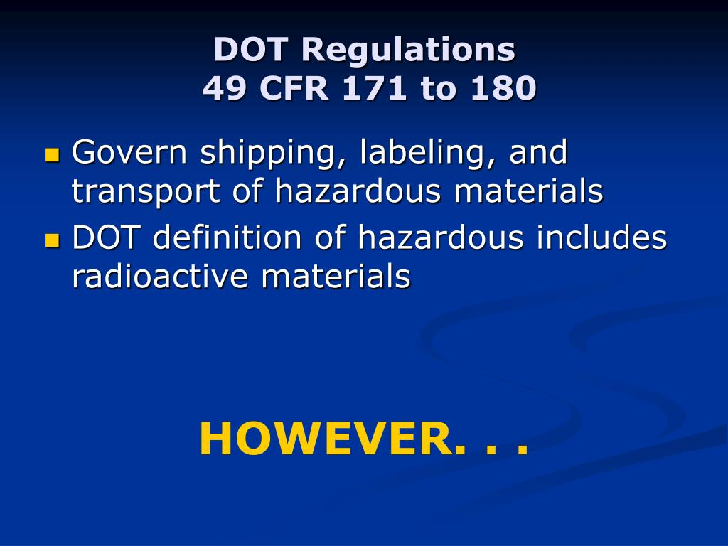 DOT Regulations