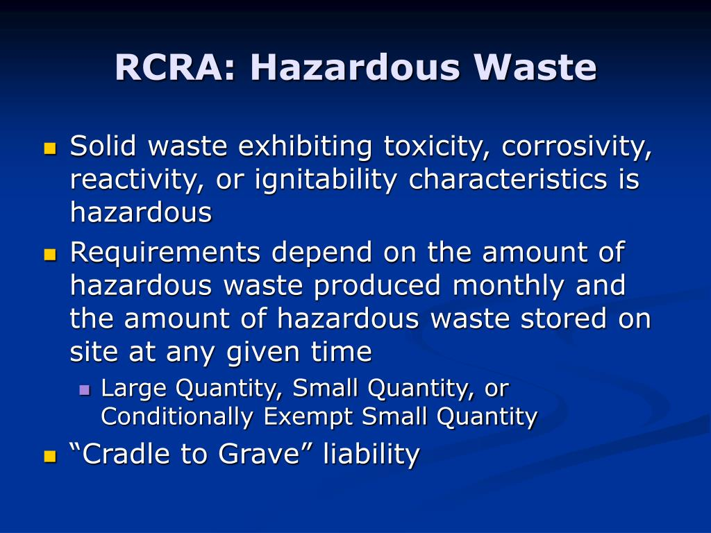 RCRA: Hazardous Waste