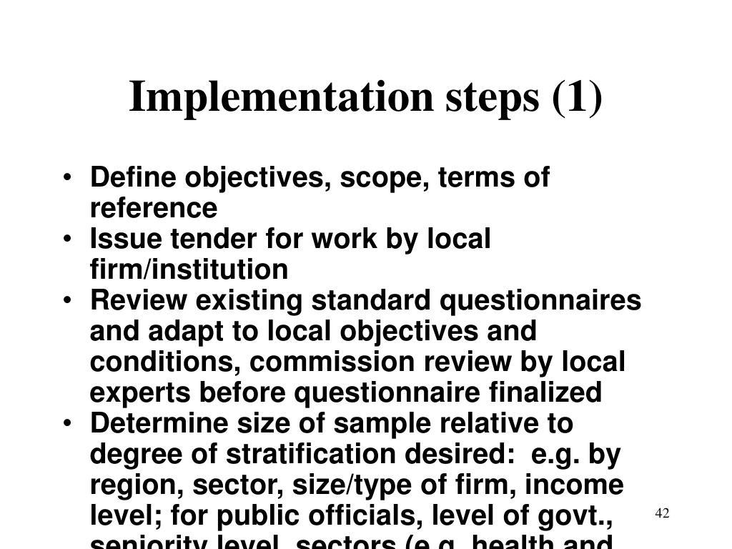Implementation steps (1)