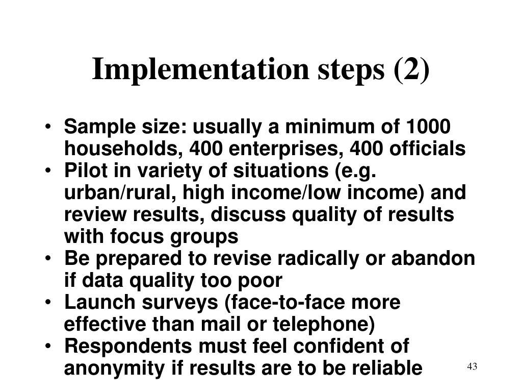 Implementation steps (2)