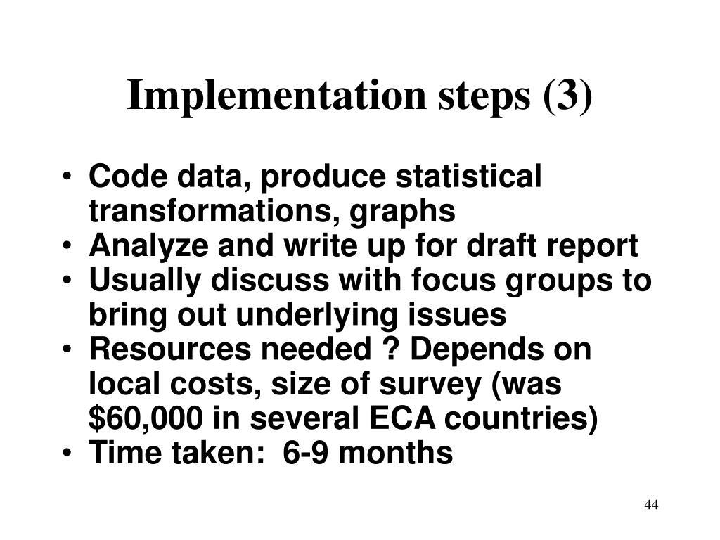 Implementation steps (3)