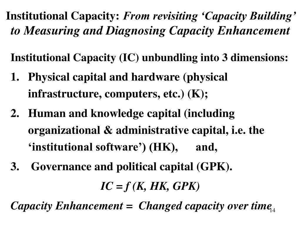 Institutional Capacity: