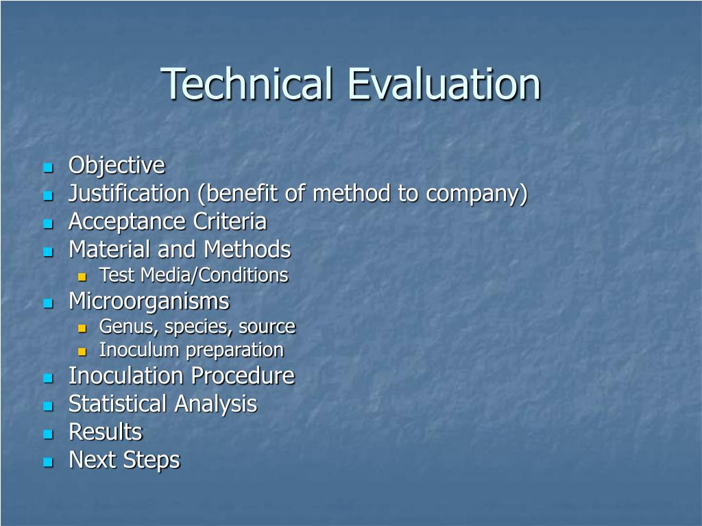 Technical Evaluation