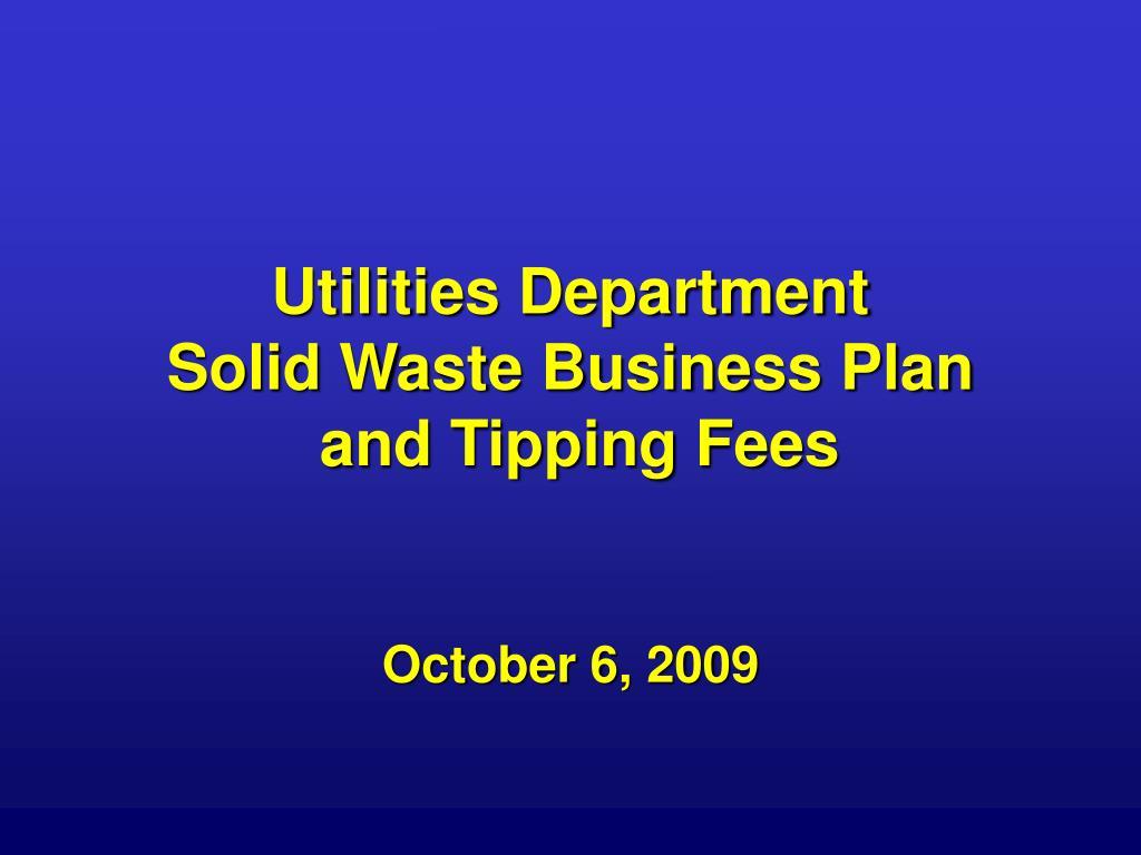 Utilities Department