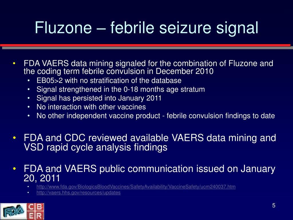 Fluzone – febrile seizure signal