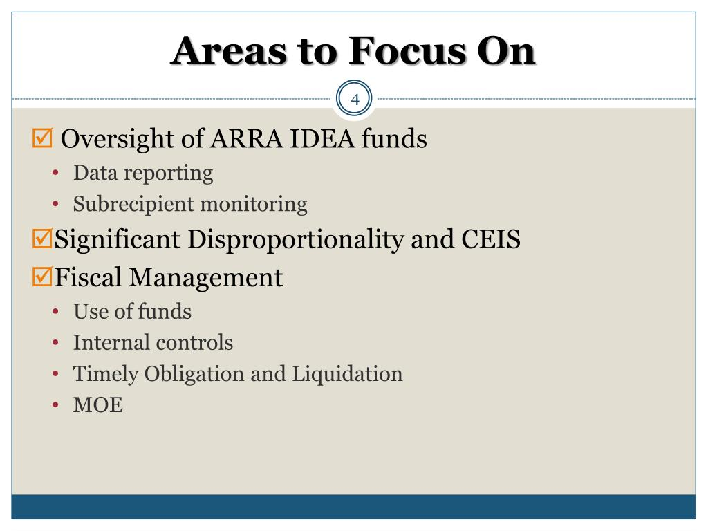 Areas to Focus On