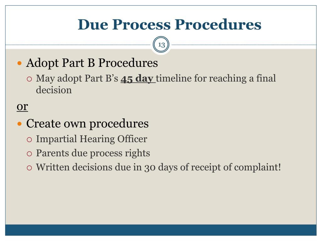 Due Process Procedures