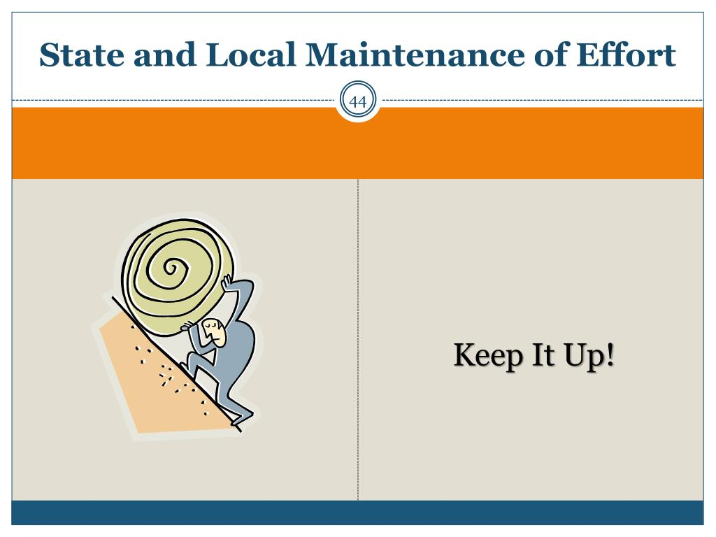 State and Local Maintenance of Effort