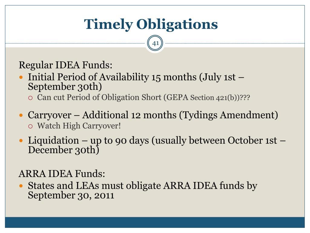 Timely Obligations