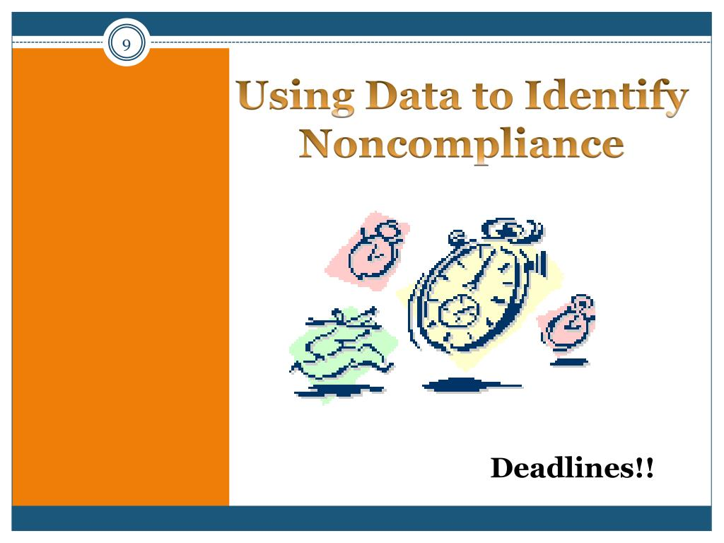 Using Data to Identify Noncompliance