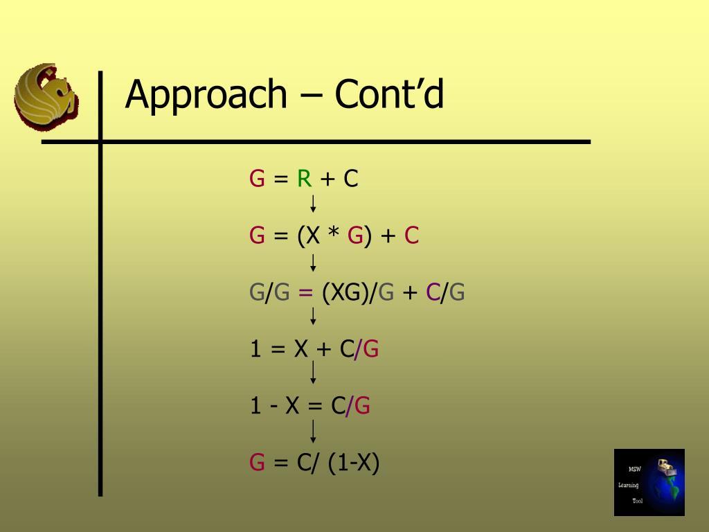 Approach – Cont'd
